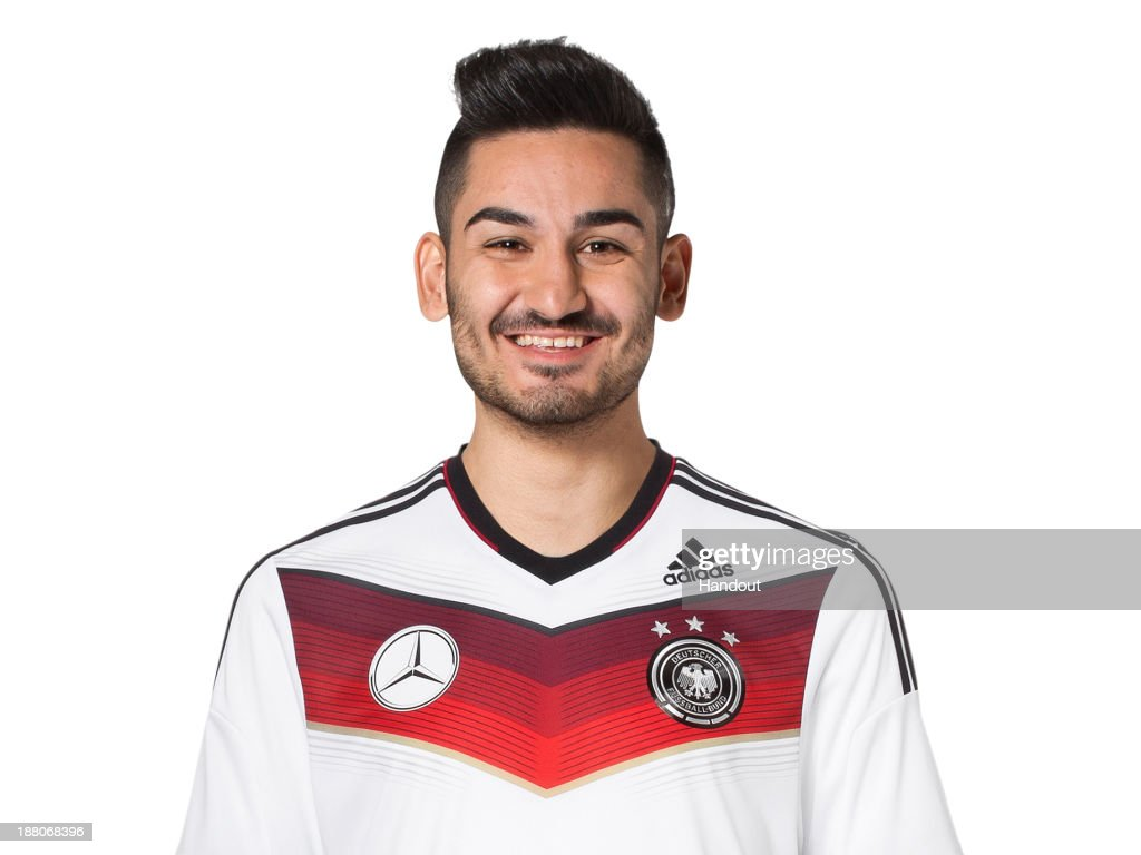 In this handout image provided by the DFB, Ilkay Guendogan poses during the German National Team presentation on November 15, 2013 in Germany.