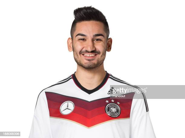 In this handout image provided by the DFB Ilkay Guendogan poses during the German National Team presentation on November 15 2013 in Germany