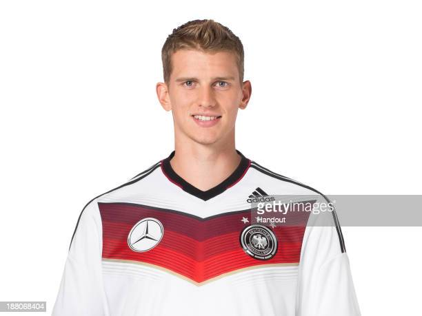 In this handout image provided by the DFB Lars Bender poses during the German National Team presentation on November 15 2013 in Germany