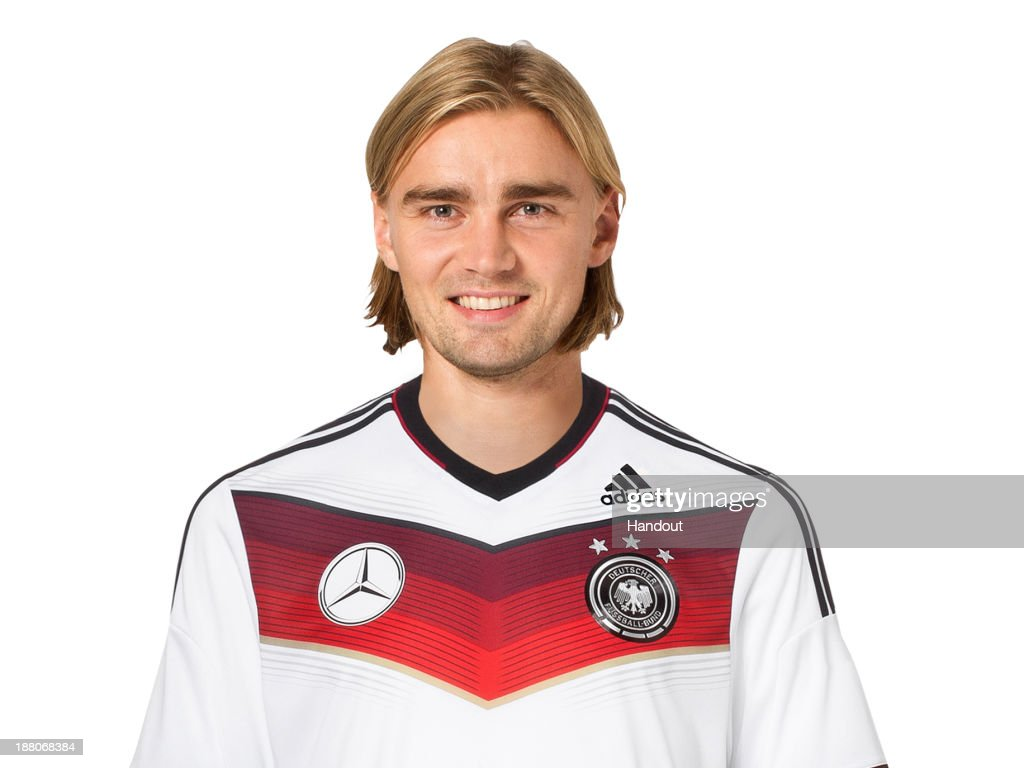 In this handout image provided by the DFB, Marcel Schmelzer poses during the German National Team presentation on November 15, 2013 in Germany.