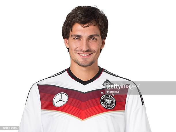 In this handout image provided by the DFB Mats Hummels poses during the German National Team presentation on November 15 2013 in Germany