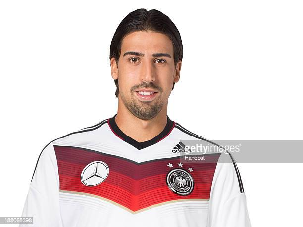 In this handout image provided by the DFB Sami Khedira poses during the German National Team presentation on November 15 2013 in Germany