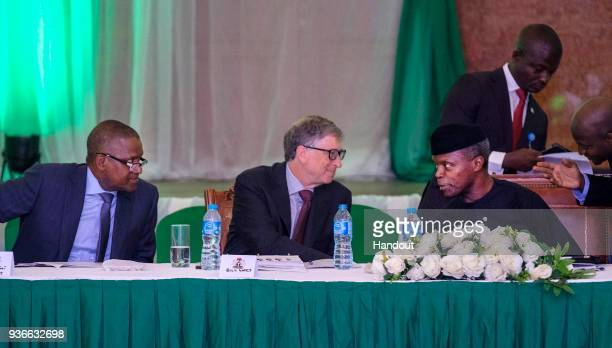 In this handout image provided by the Gates Archive Bill Gates Cochair and Trustee Bill Melinda Gates Foundation exchanges ideas with Vice President...