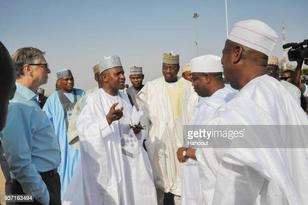 In this handout image provided by the Gates Archive The Governor of Sokoto State Rt Hon Aminu Waziri Tambuwal and his Kano State Counterpart Dr...