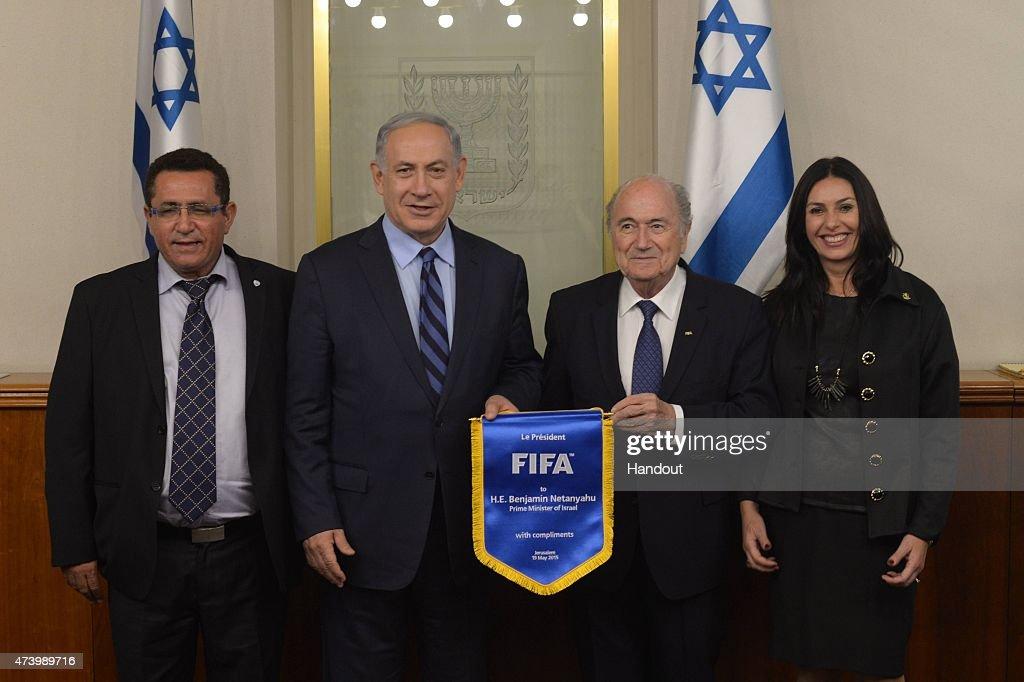 Israel Prime Minister Benjamin Netanyahu Meets FIFA President Sepp Blatter : News Photo