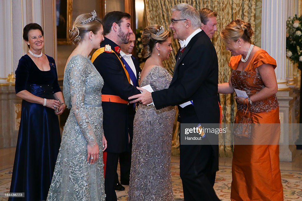 The Wedding Of Prince Guillaume Of Luxembourg & Stephanie de Lannoy - Gala Dinner : Fotografia de notícias