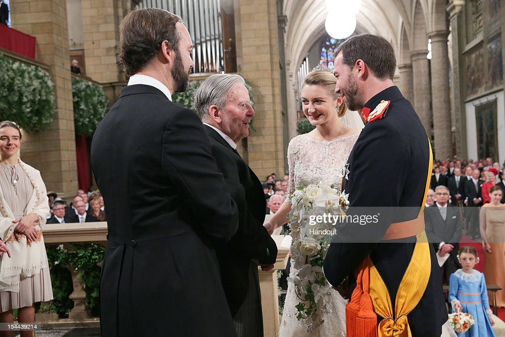 The Wedding Of Prince Guillaume Of Luxembourg & Stephanie de Lannoy - Official Ceremony : Nieuwsfoto's