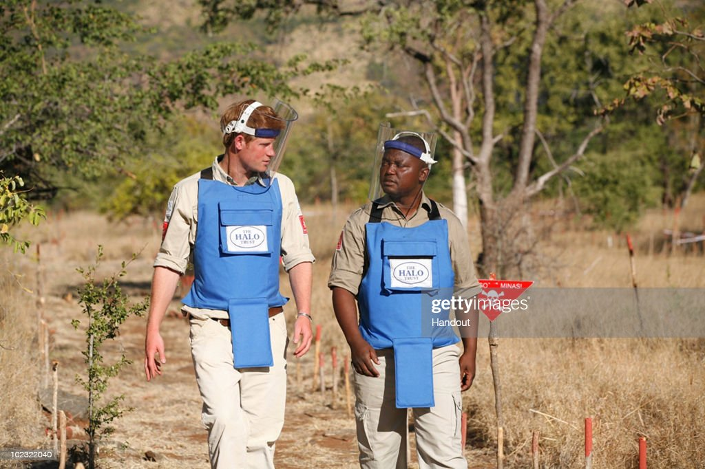 Prince Harry In Mozambique Visits Minefields Cleared By The HALO Trust : News Photo