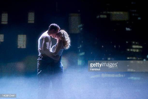 In this handout image provided by The Hartman Group Richard Fleeshman and Caissie Levy star in the Broadway production of Ghost The Musical along...