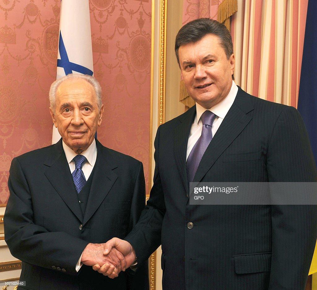 Israeli President Shimon Peres Visits Ukraine