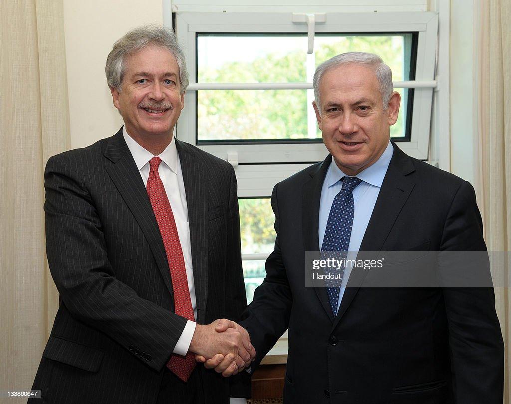 Prime Minister Benjamin Netanyahu Meets With US Deputy Secretary of State William Burns : News Photo