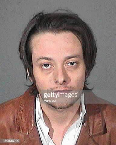 In this handout image provided by the Los Angeles County Sheriff's Office actor Edward Furlong is seen in a police booking photo after his arrest for...