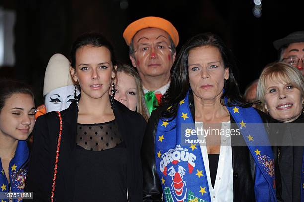In this handout image provided by the Monaco Palace Pauline Ducruet and Princess Stephanie of Monaco attend the 36th MonteCarlo International Circus...