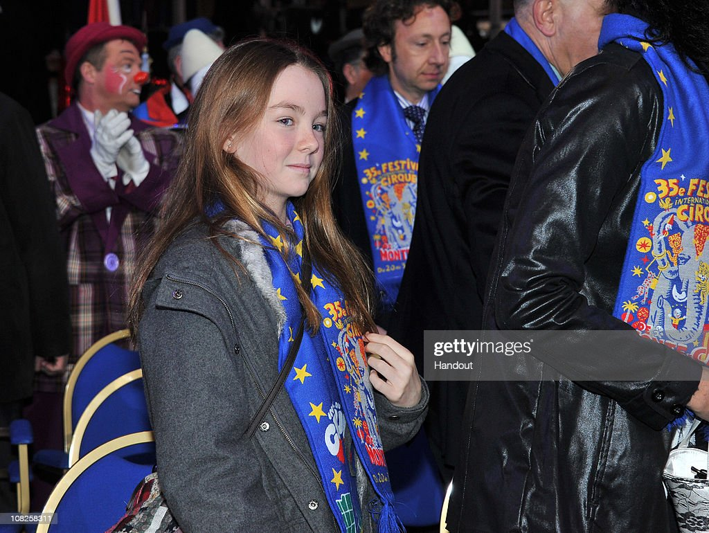 In this handout image provided by the Monaco Palace, Princess Alexandra of Hanover attends the 35th Monte-Carlo International Circus Festival on January 22, 2011 in Monte-Carlo, Monaco.
