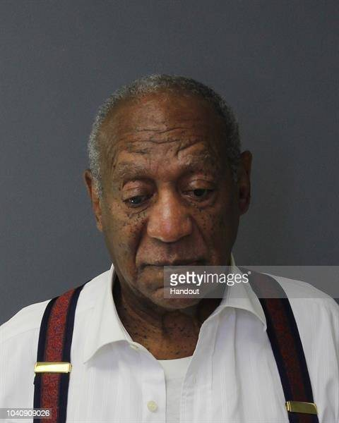 In this handout image provided by the Montgomery County Correctional Facility Bill Cosby poses for a mugshot on September 25 2018 in Eagleville...