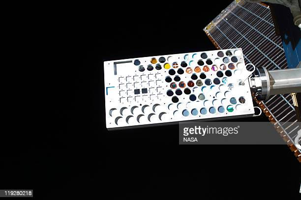 In this handout image provided by the National Aeronautics and Space Administration the Materials on International Space Station Experiment 8...