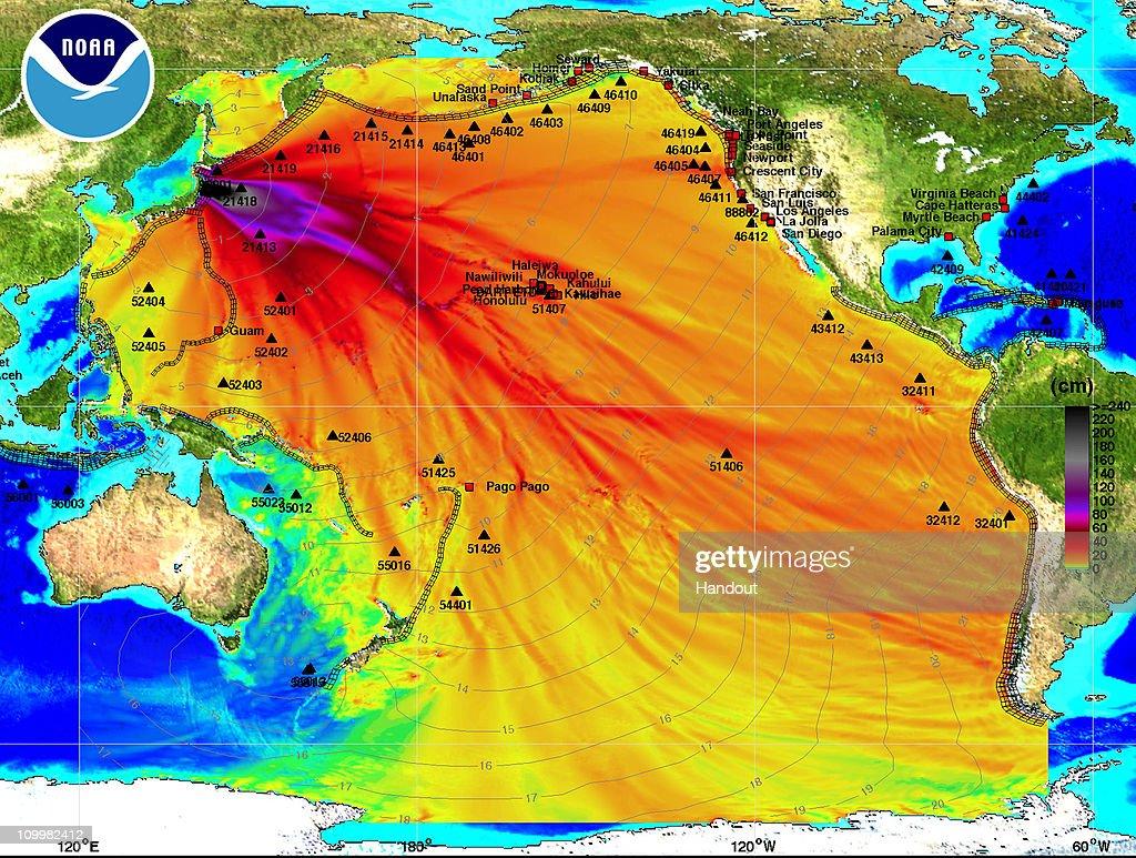 Magnitude 8.9 Strong Earthquake Jolts Northern Japan : News Photo