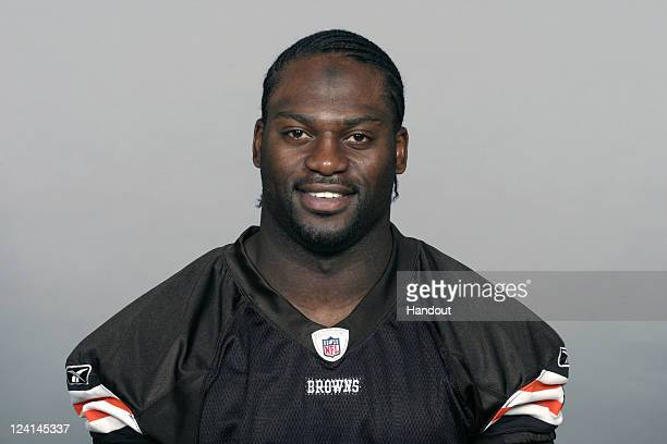 In this handout image provided by the NFL Abram Elam of the Cleveland Browns poses for his NFL headshot circa 2011 in Berea Ohio