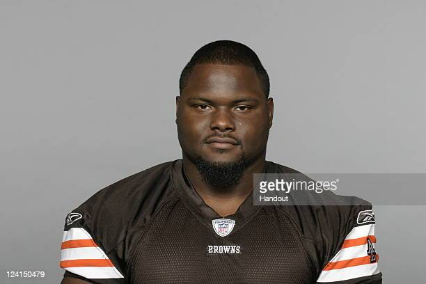 In this handout image provided by the NFL Ahtyba Rubin of the Cleveland Browns poses for his NFL headshot circa 2011 in Berea Ohio