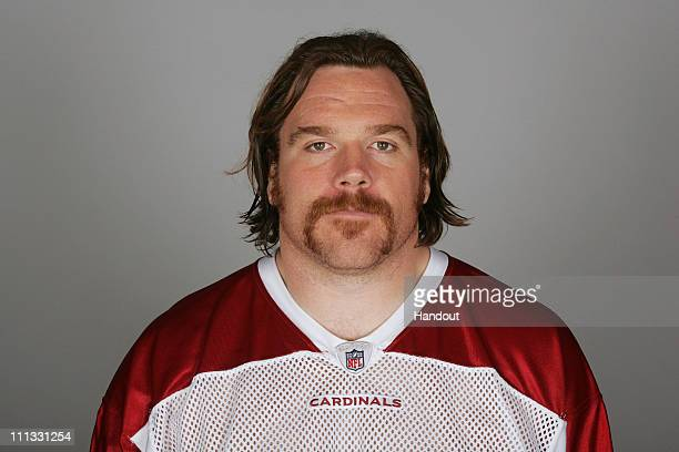 In this handout image provided by the NFL Alan Faneca of the Arizona Cardinals poses for his NFL headshot circa 2010 in Tempe Arizona