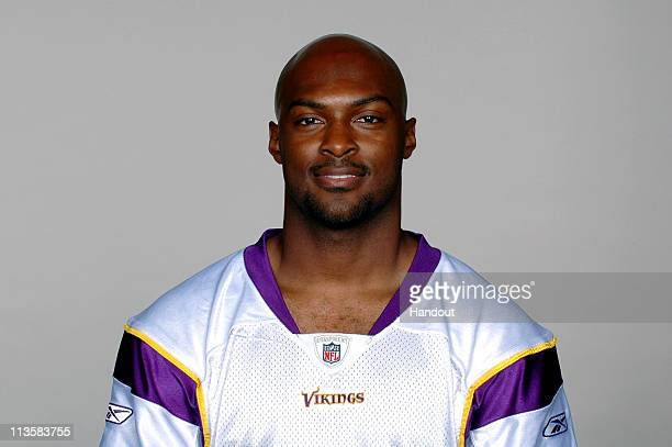 In this handout image provided by the NFL Antoine Winfield poses for his 2010 NFL headshot circa 2010 in Eden Prairie Minnesota