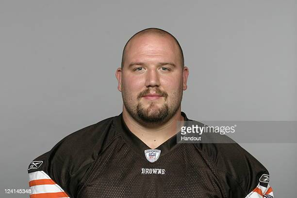 In this handout image provided by the NFL Brian Schaefering of the Cleveland Browns poses for his NFL headshot circa 2011 in Berea Ohio
