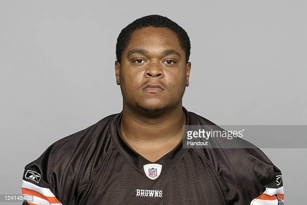 In this handout image provided by the NFL Calton Ford of the Cleveland Browns poses for his NFL headshot circa 2011 in Berea Ohio