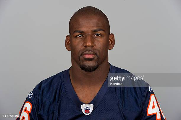 In this handout image provided by the NFL Chris Harris of the Chicago Bears poses for his 2010 NFL headshot circa 2010 in Chicago Illinois