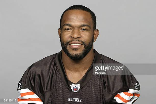In this handout image provided by the NFL Darian Hagan of the Cleveland Browns poses for his NFL headshot circa 2011 in Berea Ohio
