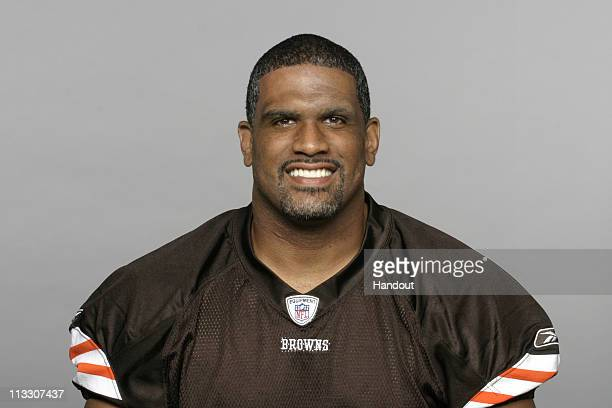 In this handout image provided by the NFL David Bowens of the Cleveland Browns poses for his 2010 NFL headshot circa 2010 in Berea Ohio