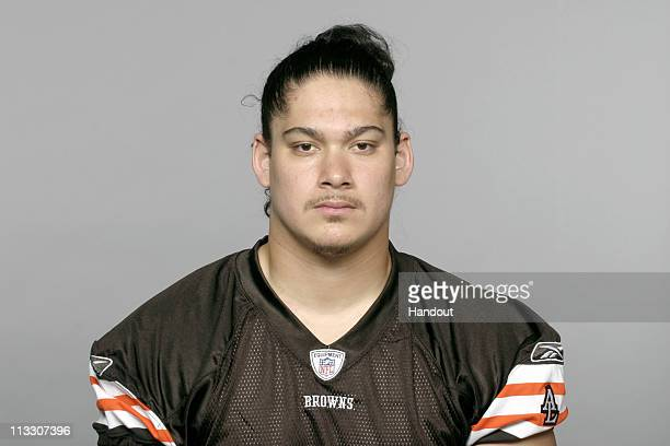 In this handout image provided by the NFL David Veikune of the Cleveland Browns poses for his 2010 NFL headshot circa 2010 in Berea Ohio
