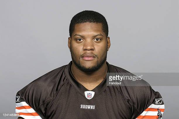 In this handout image provided by the NFL Dominic Alford of the Cleveland Browns poses for his NFL headshot circa 2011 in Berea Ohio