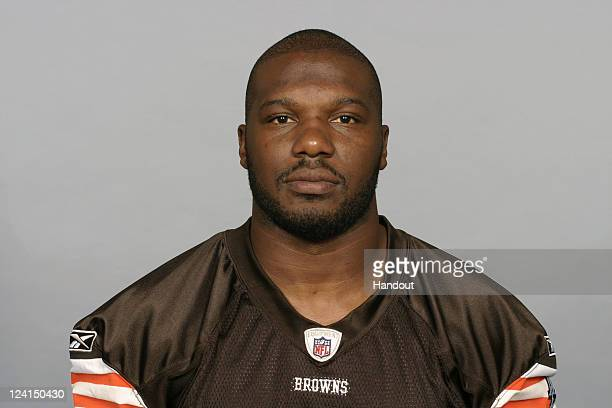 In this handout image provided by the NFL D'Qwell Jackson of the Cleveland Browns poses for his NFL headshot circa 2011 in Berea Ohio