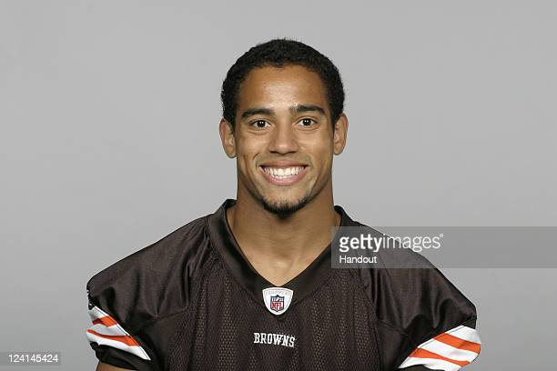 In this handout image provided by the NFL Eric Hagg of the Cleveland Browns poses for his NFL headshot circa 2011 in Berea Ohio