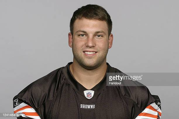 In this handout image provided by the NFL Evan Frosch of the Cleveland Browns poses for his NFL headshot circa 2011 in Berea Ohio