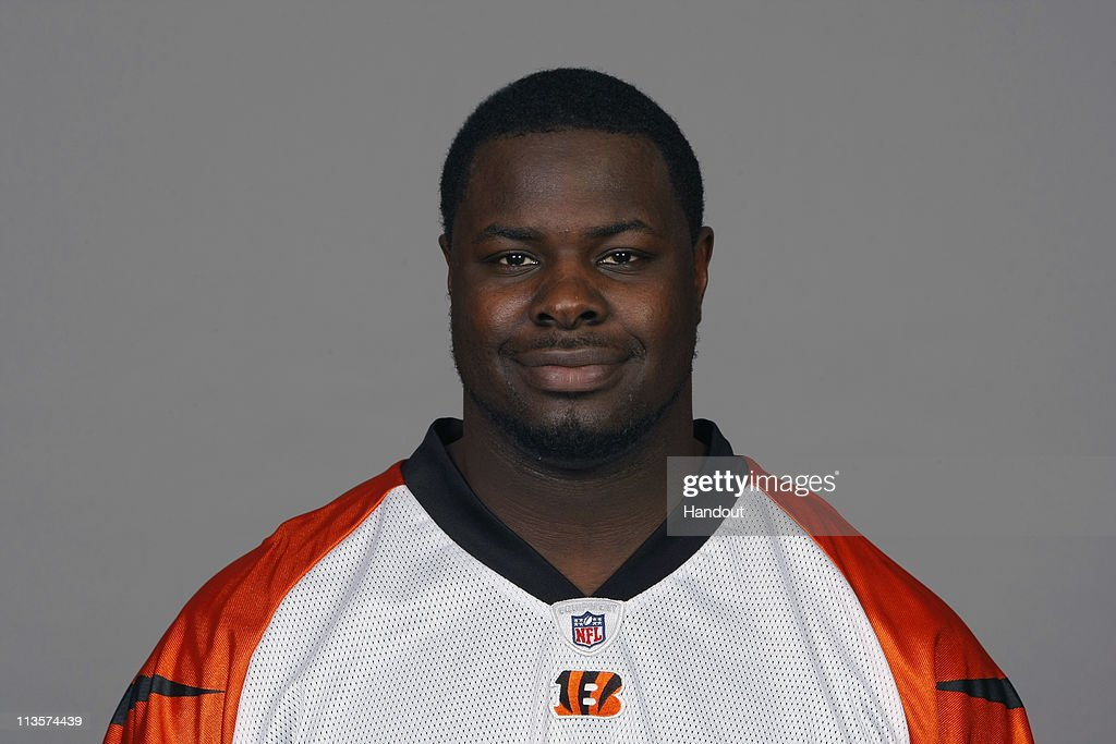 In this handout image provided by the NFL, Frostee Rucker of the Cincinnati Bengals poses for his 2010 NFL headshot circa 2010 in Cincinnati, Ohio.