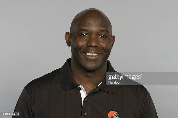 In this handout image provided by the NFL George Warhop of the Cleveland Browns poses for his 2010 NFL headshot circa 2010 in Berea Ohio