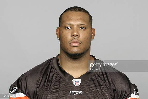 In this handout image provided by the NFL Jarrod Shaw of the Cleveland Browns poses for his NFL headshot circa 2011 in Berea Ohio