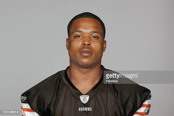 In this handout image provided by the NFL Jayme Mitchell of the Cleveland Browns poses for his NFL headshot circa 2011 in Berea Ohio