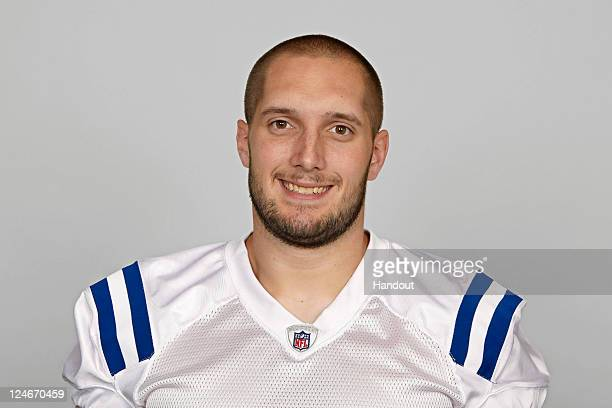 In this handout image provided by the NFL Jeff Linkenbach of the Indianapolis Colts poses for his NFL headshot circa 2011 in Indianapolis Indiana
