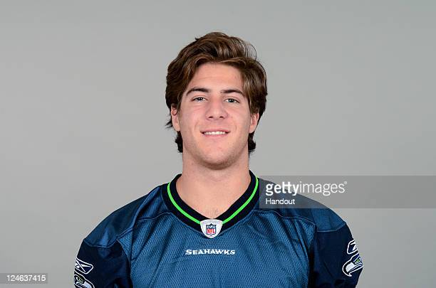 In this handout image provided by the NFL John Gold of the Seattle Seahawks poses for his NFL headshot circa 2011 in Renton Washington