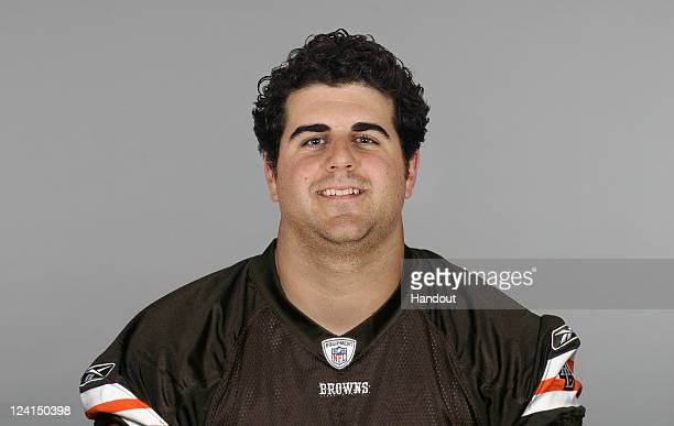 In this handout image provided by the NFL John Greco of the Cleveland Browns poses for his NFL headshot circa 2011 in Berea Ohio