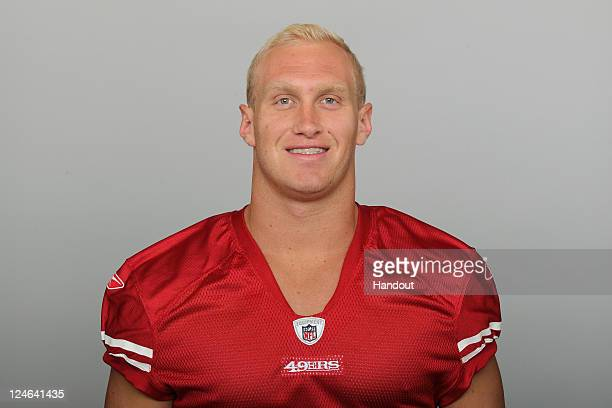 In this handout image provided by the NFL Konrad Reuland of the San Francisco 49ers poses for his NFL headshot circa 2011 in San Francisco California