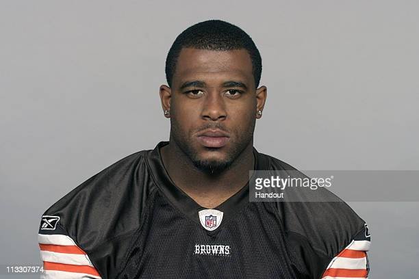 In this handout image provided by the NFL Lawrence Vickers of the Cleveland Browns poses for his 2010 NFL headshot circa 2010 in Berea Ohio