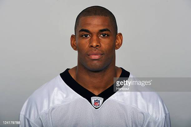 In this handout image provided by the NFL Marques Colston of the New Orleans Saints poses for his NFL headshot circa 2011 in Metairie Louisiana