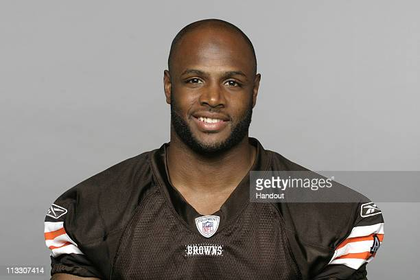 In this handout image provided by the NFL Mike Adams of the Cleveland Browns poses for his 2010 NFL headshot circa 2010 in Berea Ohio