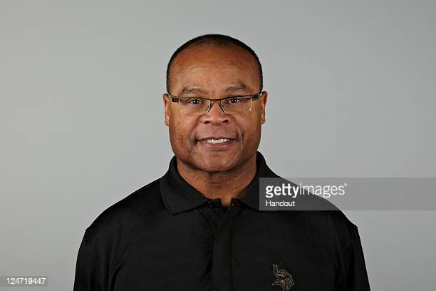 In this handout image provided by the NFL Mike Singletary of the Minnesota Vikings poses for his NFL headshot circa 2011 in Eden Prairie Minnesota