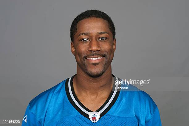 In this handout image provided by the NFL Nate Burleson of the Detroit Lions poses for his NFL headshot circa 2011 in Detroit Michigan