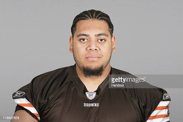 In this handout image provided by the NFL Paul Fanaika of the Cleveland Browns poses for his 2010 NFL headshot circa 2010 in Berea Ohio