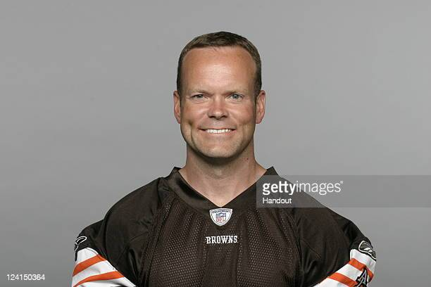 In this handout image provided by the NFL Phil Dawson of the Cleveland Browns poses for his NFL headshot circa 2011 in Berea Ohio